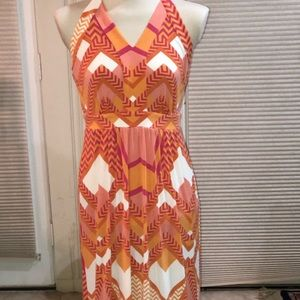 Multi colored long maxi sundress